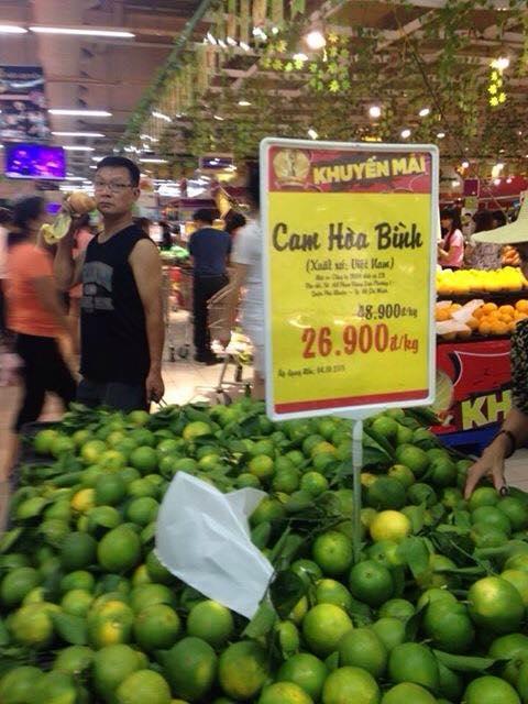 Cam Hòa Bình bị siêu thị BIG C hạ long đại hạ giá