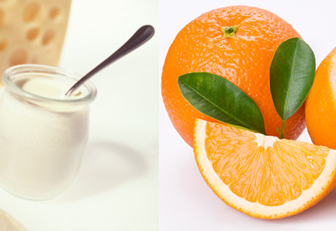mặt nạ dưỡng da từ quả cam và sữa chua