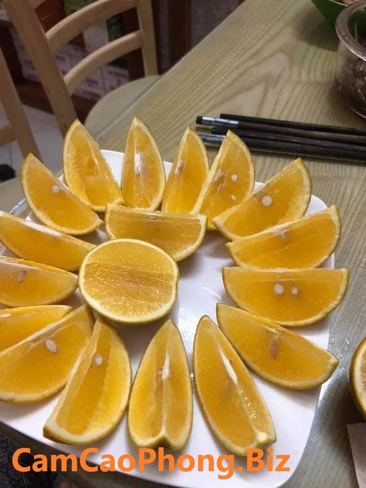 Tép cam vàng và mọng nước